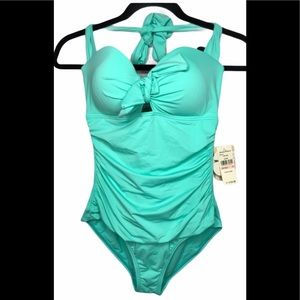 TOMMY BAHAMA Tummy Control Halter Cup Solid  10